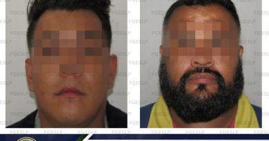 FGE cumplimenta orden de aprehensión a dos hombres por robo a un antro de SLP