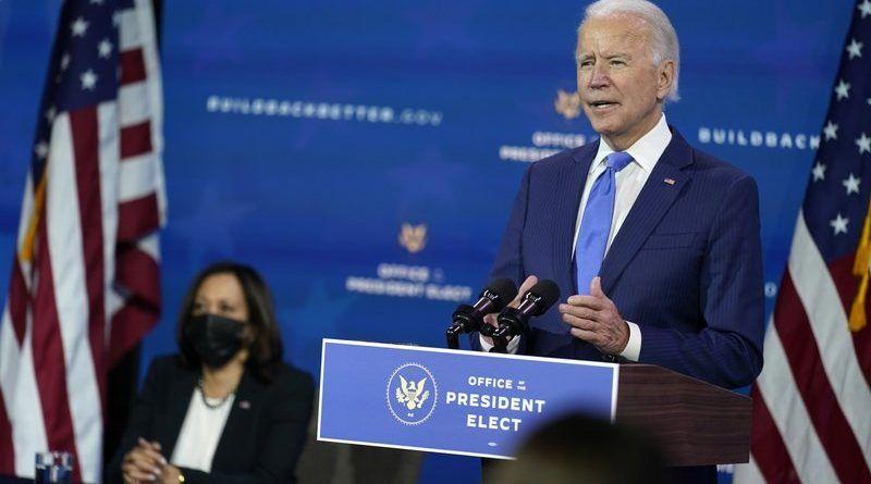 Biden su siguiente paso nombrar un equipo de atención médica por la creciente pandemia