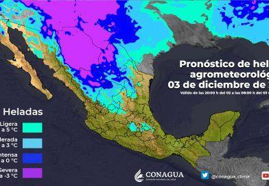 Se mantendrán las bajas temperaturas, heladas y lluvias intensas