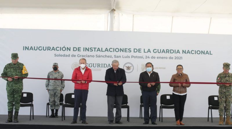 Inauguran Amlo y JM Carreras moderna y equipadas instalaciones de la Guardia Nacional