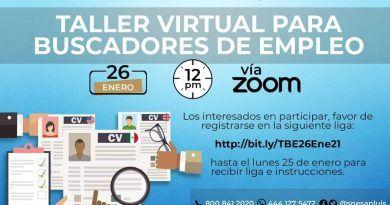 STPS organiza talleres virtuales de empleo durante el mes de enero