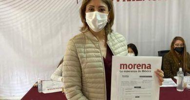 Mónica Liliana Rangel se registra como precandidata de Morena