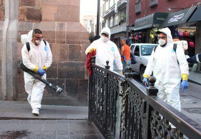 Protección civil municipal refuerza accione de sanitización